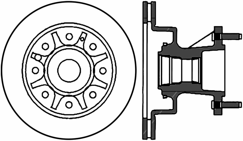 Disc Brake Rotor-C-TEK Standard Front fits 95-02 Ford E