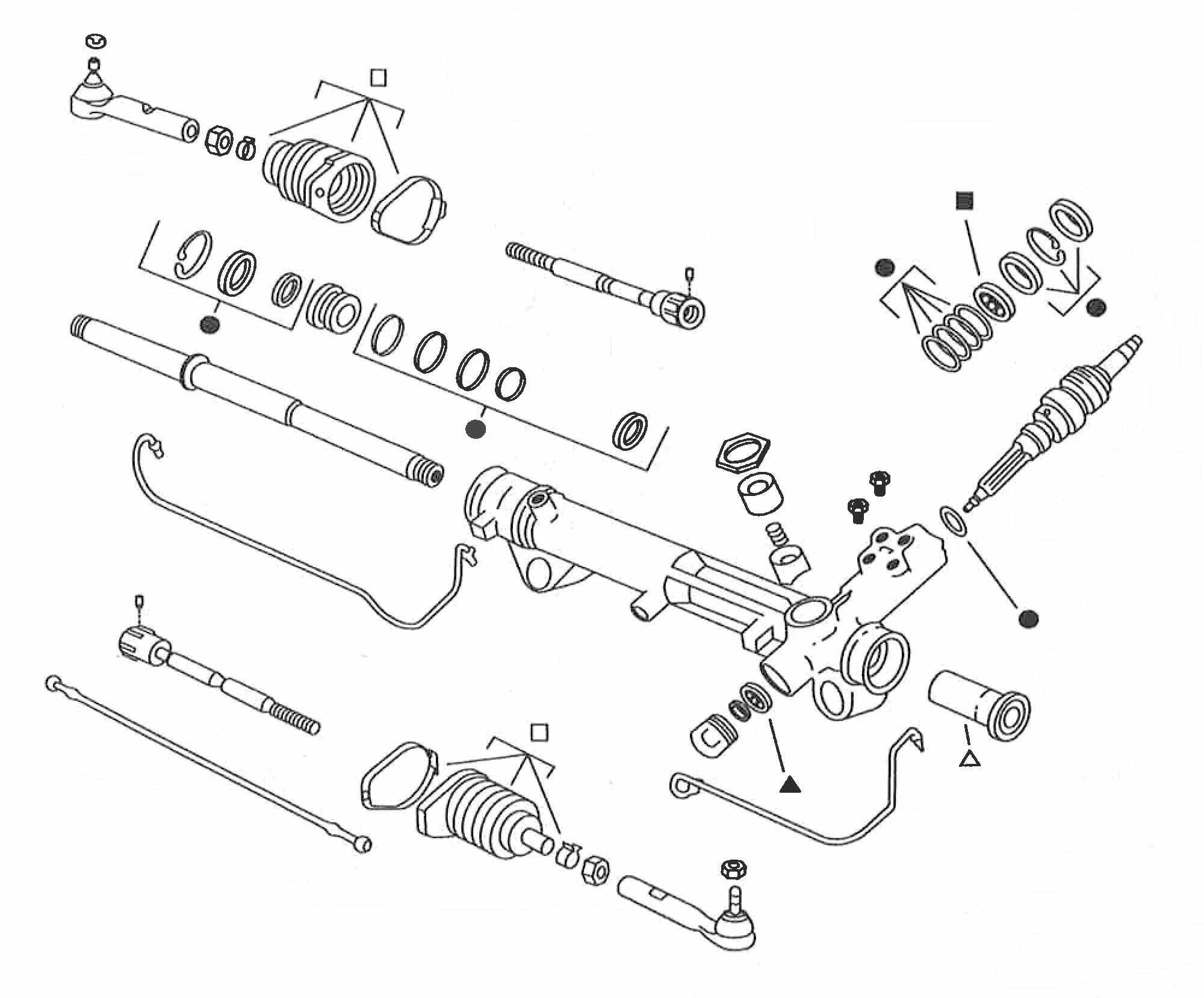 Rack And Pinion Seal Kit Edelmann Fits 98 02 Honda