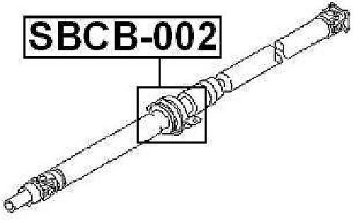 Drive Shaft Center Support Bearing Febest SBCB 002 Fits