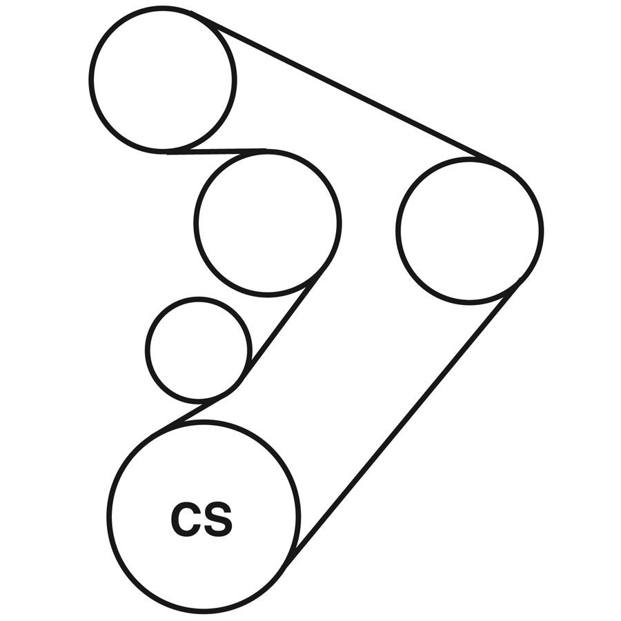 PONTIAC GRAND PRIX Belt Routing Diagram from Best Value