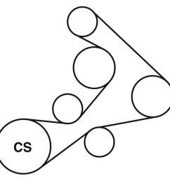 1996 chevrolet corvette lt1 belt routing diagram  [ 900 x 900 Pixel ]