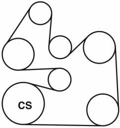 lincoln l v6 serpentine belt routing diagram [ 900 x 900 Pixel ]