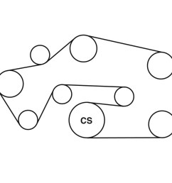 lincoln ls belt routing diagram from best value auto parts chevy 4 2 liter serpentine belt chevy 4 2 liter serpentine belt [ 900 x 900 Pixel ]