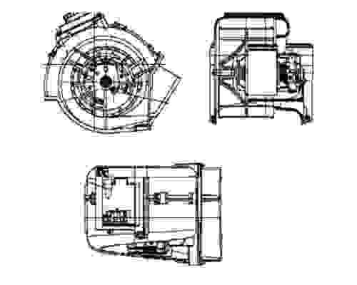 Behr Hella Service HVAC Blower Motor fits 2000-2006