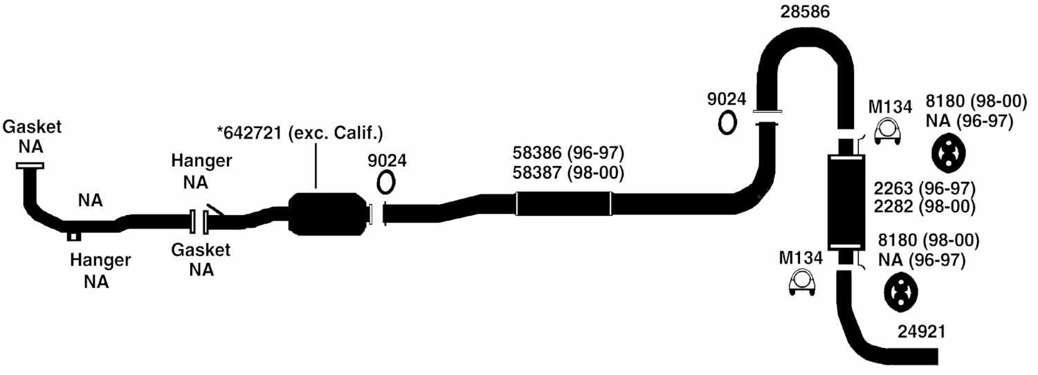 toyota rav4 exhaust system diagram cadillac bose amp wiring from best value auto parts