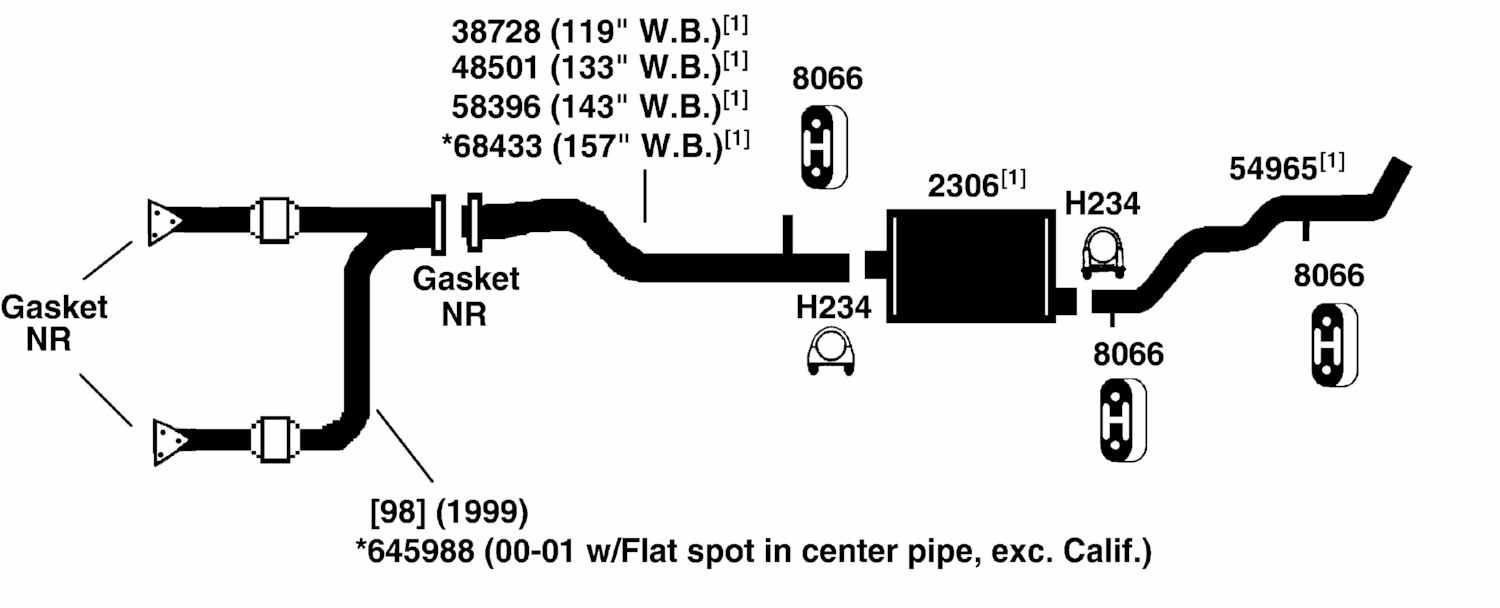 CHEVROLET SILVERADO 2500 Exhaust Diagram from Best Value