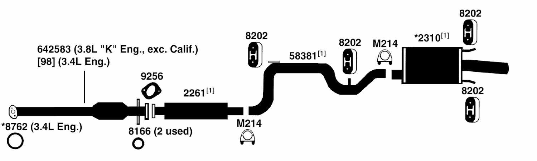 2000 Chevy Malibu Exhaust System Diagram