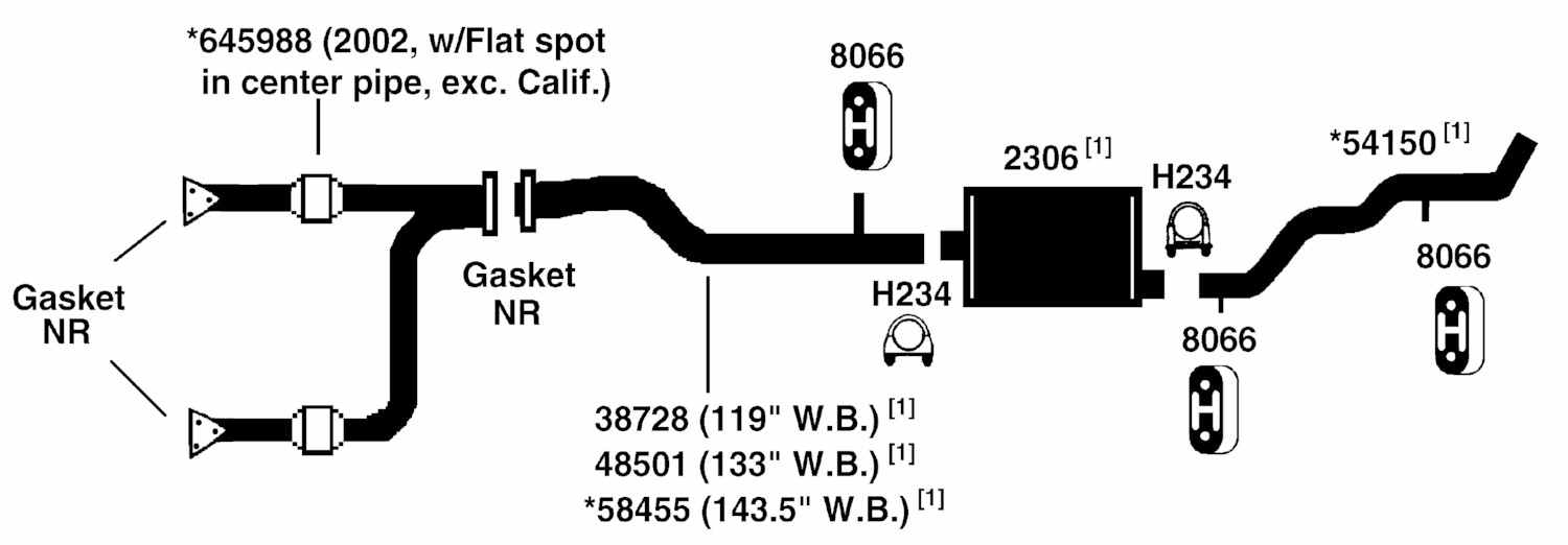 GMC SIERRA 1500 Exhaust Diagram from Best Value Auto Parts