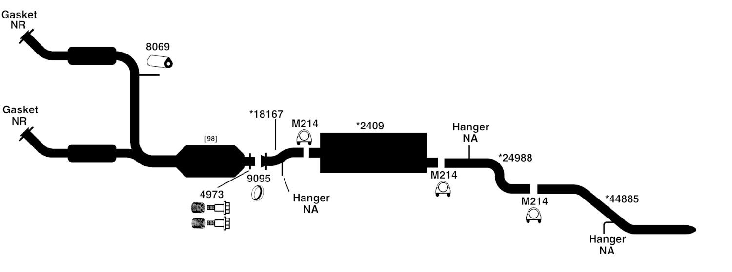 2001 Ford Escape V6 Exhaust System Diagram. Ford. Auto