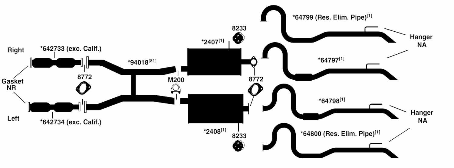 MERCURY GRAND MARQUIS Exhaust Diagram from Best Value Auto