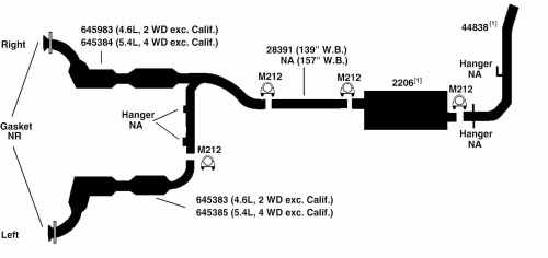 small resolution of ford exhaust diagram simple wiring post ford f 150 5 4l engine diagram 1997 f250