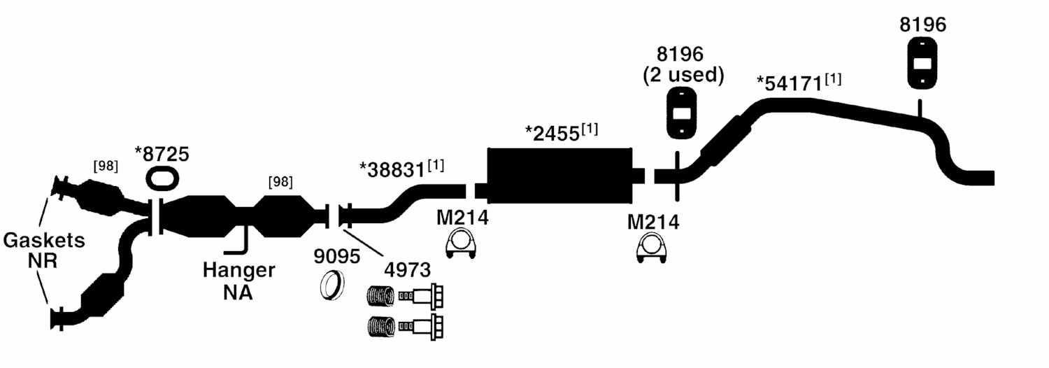 2000 Ford Mustang Exhaust System Diagram, 2000, Free