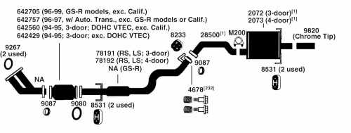small resolution of acura integra exhaust diagram from best value auto parts 1995 acura integra door diagram 1995 acura integra door diagram