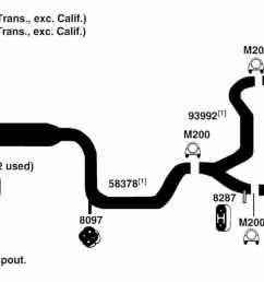 1996 ford taurus exhaust diagram  [ 1500 x 595 Pixel ]