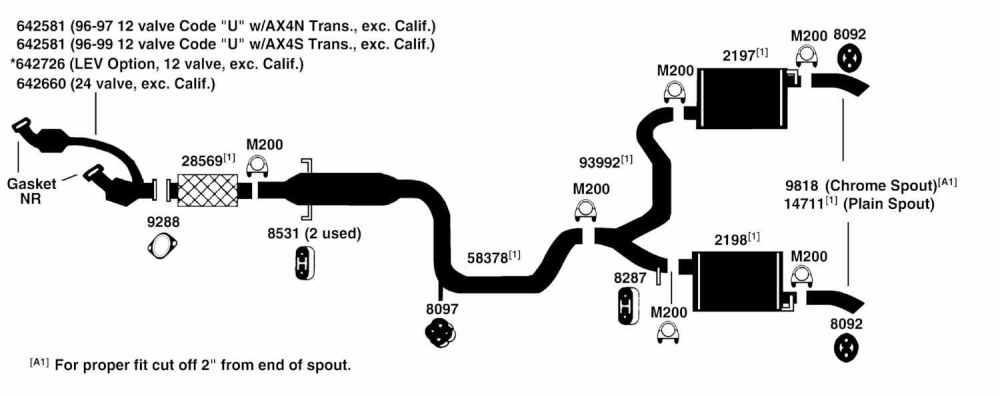 medium resolution of 1996 ford taurus exhaust diagram