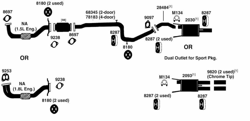 medium resolution of mitsubishi exhaust diagram wiring diagram technic mitsubishi mirage exhaust diagram from best value auto parts1995 mitsubishi