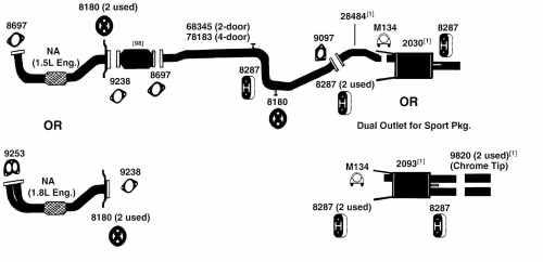 small resolution of mitsubishi exhaust diagram wiring diagram technic mitsubishi mirage exhaust diagram from best value auto parts1995 mitsubishi