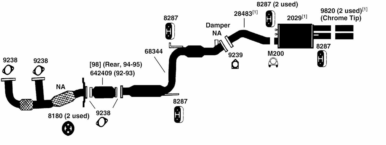 MITSUBISHI DIAMANTE Exhaust Diagram from Best Value Auto Parts
