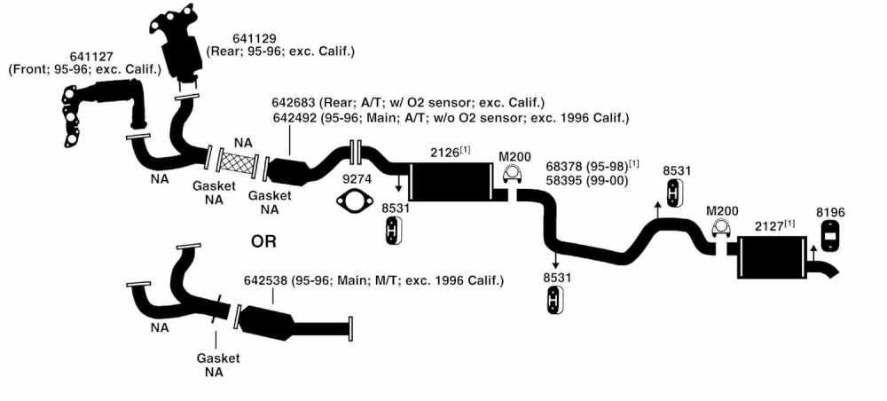 medium resolution of 2000 f150 exhaust system diagram