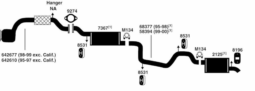 medium resolution of ford contour exhaust diagram from best value auto parts 1998 ford contour exhaust diagram