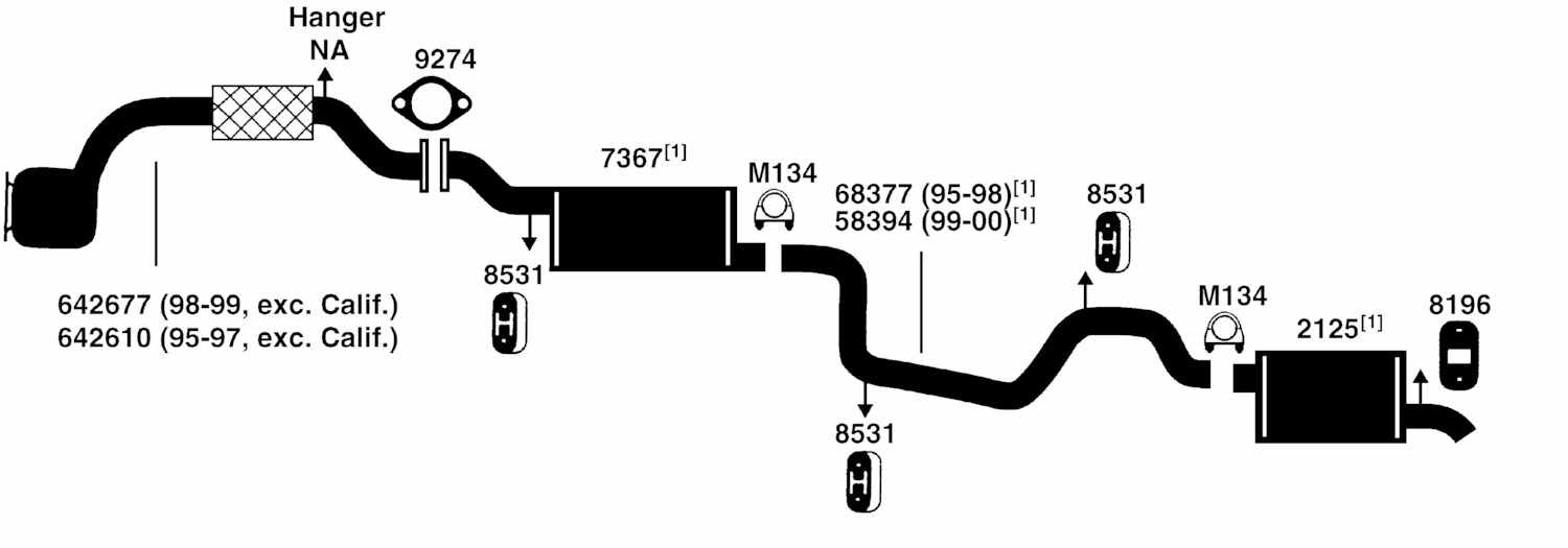 MERCURY MYSTIQUE Exhaust Diagram from Best Value Auto Parts