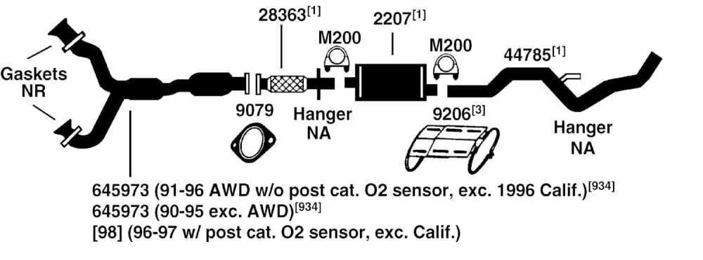 medium resolution of 1997 ford aerostar exhaust diagram