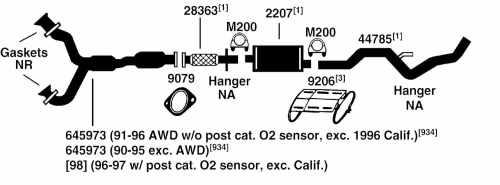 small resolution of 1997 ford aerostar exhaust diagram