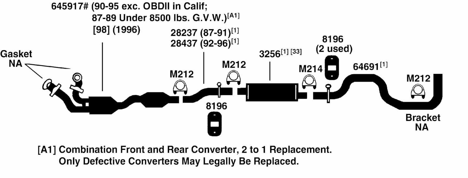 hight resolution of 1996 ford econoline e350 exhaust diagram category exhaust diagram
