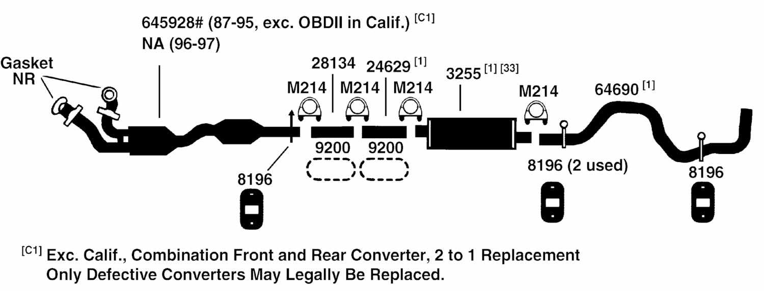 2003 Ford F150 Exhaust System Diagram