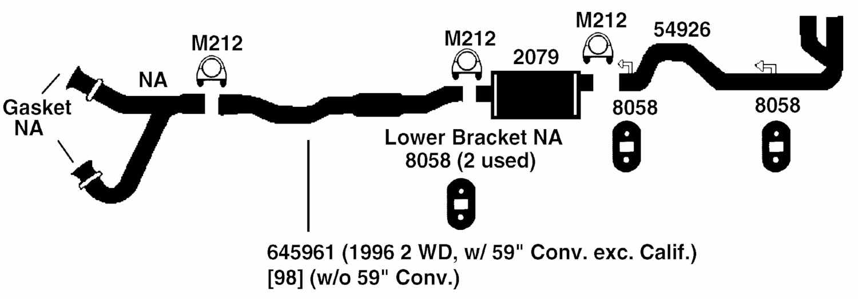 DODGE DAKOTA Exhaust Diagram from Best Value Auto Parts