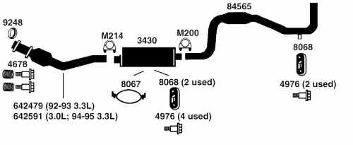 small resolution of dodge caravan exhaust diagram from best value auto parts caravan body kits 1995 dodge caravan exhaust