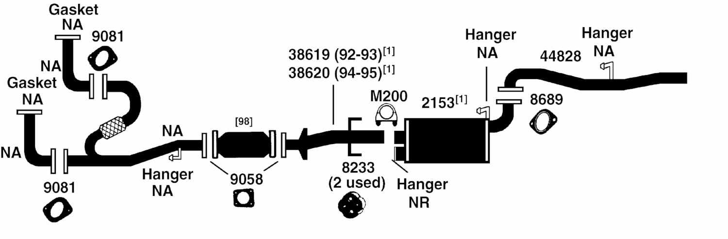 1995 Isuzu Rodeo Exhaust Diagram Category Exhaust Diagram Description