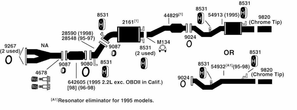 medium resolution of honda odyssey exhaust diagram from best value auto parts 96 honda odyssey engine diagram