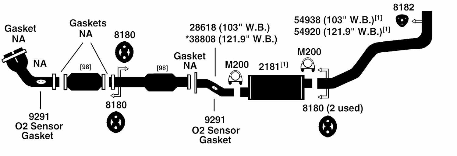 TOYOTA PICKUP TACOMA Exhaust Diagram from Best Value Auto