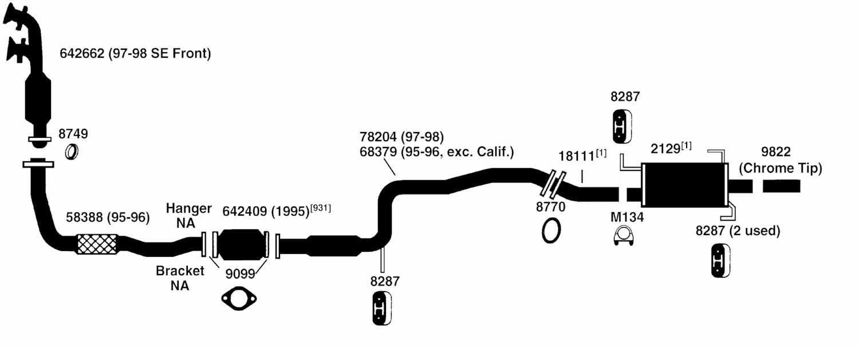 NISSAN DATSUN 200SX Exhaust Diagram from Best Value Auto Parts