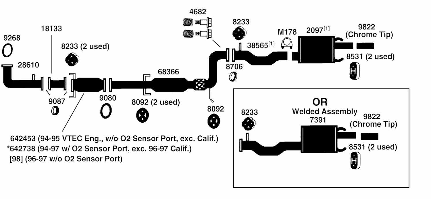 hight resolution of honda accord exhaust diagram from best value auto parts hondaexhaustsystemdiagram 1995 honda accord exhaust diagram