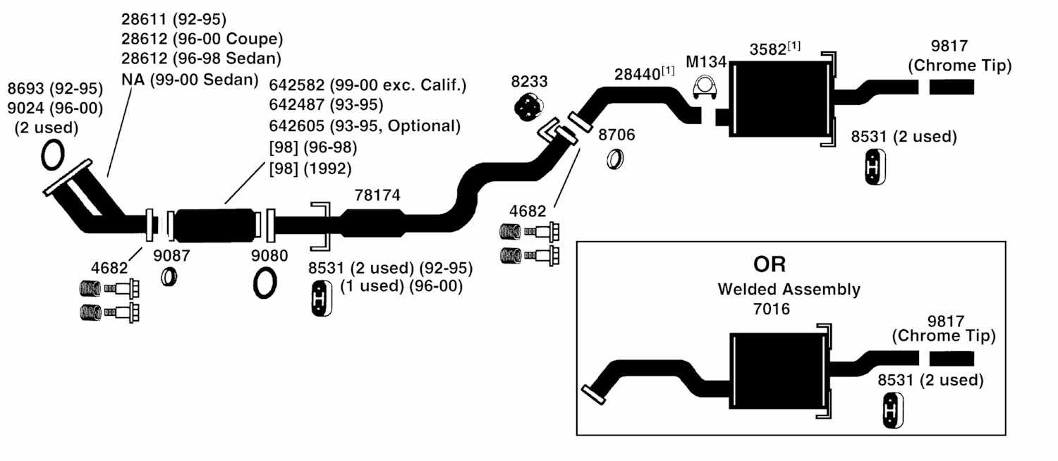 hight resolution of 99 civic exhaust diagram wiring diagram 99 civic coupe exhaust system 99 civic exhaust diagram