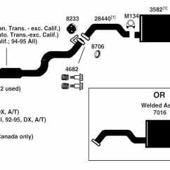 2001 Honda Civic Parts Diagram Dual 1 Ohm Wiring Auto Exhaust Diagrams All Data From Best Value Car System