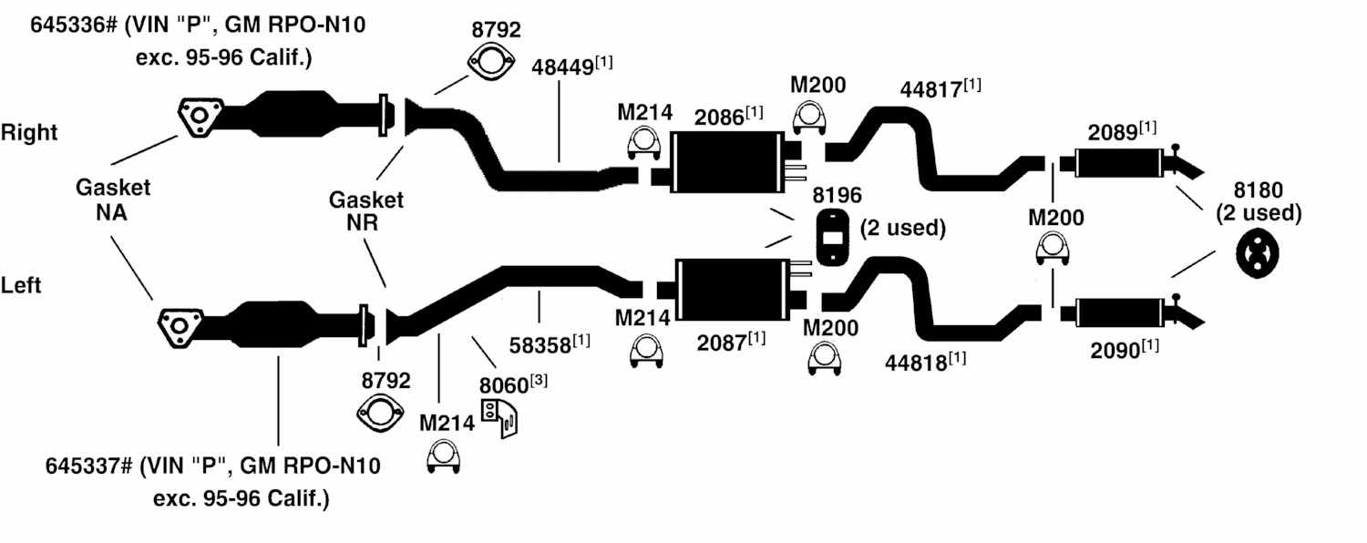 BUICK ROADMASTER Exhaust Diagram from Best Value Auto Parts