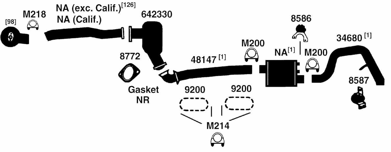 NISSAN DATSUN PICKUP D21 HARDBODY Exhaust Parts from Best