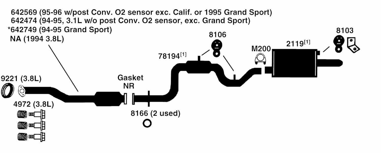 1995 Buick Park Avenue Ultra Exhaust Diagram Category Exhaust Diagram