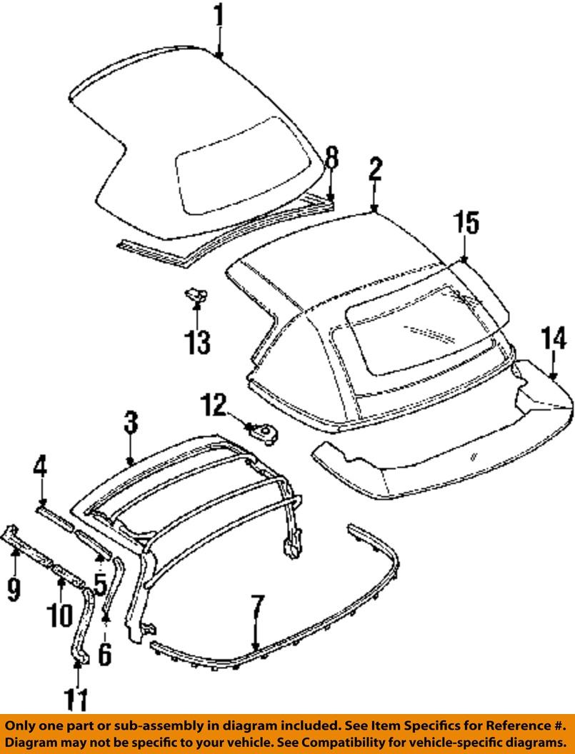 Nos 90 97 mazda miata folding top inner liner na01r196xd