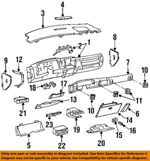 Buick GM OEM RoadmasterClimate Control Unit Temperature