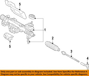 AUDI OEM 2015 Q3Rack And Pinion Complete Unit 5N1423062R
