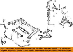 AUDI OEM 9601 A4 Quattro Rear SuspensionStrut Mount