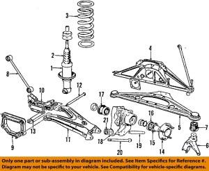 JAGUAR OEM 1997 XJ6 RearShock Absorber or Strut MNA3540AD | eBay