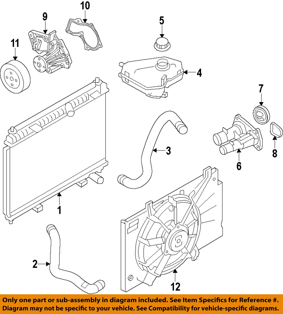 hight resolution of ford oem 11 16 fiesta engine water pump be8z8501b