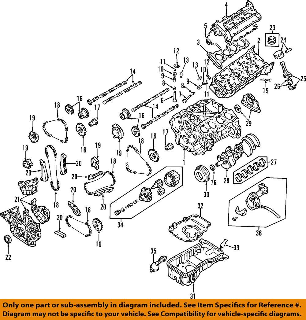 medium resolution of infiniti nissan oem 97 01 q45 oil pan baffle plate 111146p015