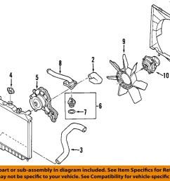 isuzu oem 98 03 rodeo radiator cooling fan blade 8971722010 9 on diagram only genuine oe factory original item [ 1000 x 804 Pixel ]