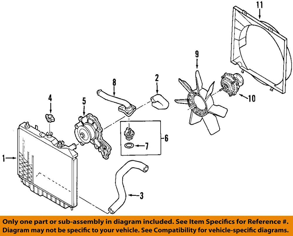 hight resolution of isuzu oem 98 03 rodeo radiator cooling fan blade 8971722010 9 on diagram only genuine oe factory original item